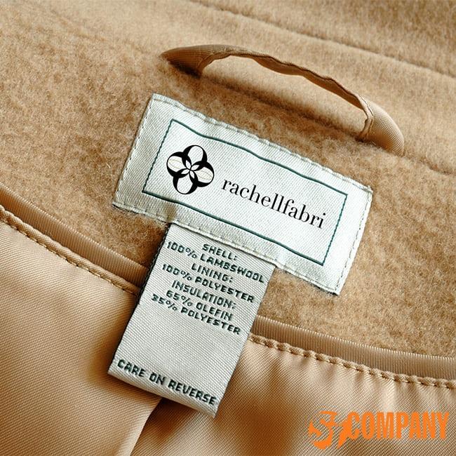 Бирка на одежду пришивная